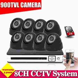 hvr dvr 2019 - 8 channel CCTV DVR NVR HVR kit 8pcs 900tvl security indoor dome camera 8ch AHD HDMI 1080P dvr video system hdmi 1080p