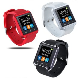 Wholesale U8 Bluetooth Smart Watch Watch Wrist Smartwatch for iPhone S S S plus Samsung S4 S5 Note Note HTC Android Phone Smartphones