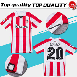 dde74d11d Discount athletic jersey shorts Athletic Club Bilbao Home Soccer Jersey 17  18 Athletic short sleeve soccer