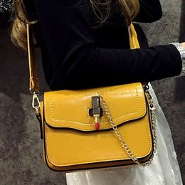 Lipstick For Black Women Canada - Summer fashion messenger bags bright skin leather handbags 2017 designer brand lipstick shoulder bag for women crossbody bolsas