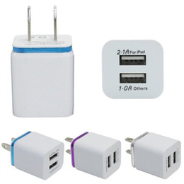 Free tablet chargers online shopping - Metal Dual USB wall US plug A AC Power Adapter Wall Charger Plug port for samsung galaxy note LG tablet ipad DHL