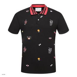 Новый горячий роскошный Италия рубашка футболка Хай-стрит вышивка футболки для мужчин змея пчела тигр Марка рубашка мужчины на Распродаже