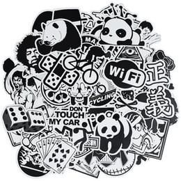 50 pcs Aléatoire punk noir et blanc anime autocollants décor à la maison autocollant sur les bagages moto vélo skateboard stickers muraux autocollants pour enfants