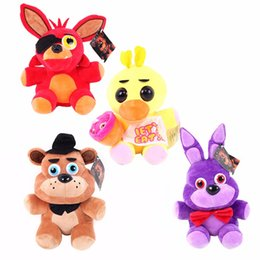 $enCountryForm.capitalKeyWord NZ - 4pcs lot 25cm Five Nights At Freddy's 4 FNAF Bonnie Freddy Bear Chica Foxy Plush Toys Doll Soft Stuffed Animals Toys With Tag