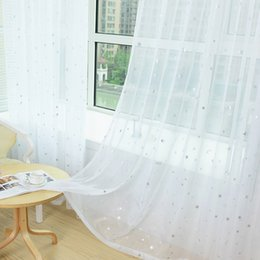 2018 White Bedroom Blinds White Star Modern For Living Room Transparent  Tulle Curtains Window Drapes Sheer