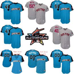 3c9f095a9 ... 2017 All-Star Game Jersey 50 Mookie Betts 41 Chris Sale 46 Craig  Kimbrel Boston Men Boston Red Sox ...