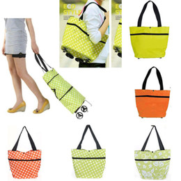 $enCountryForm.capitalKeyWord Canada - Factory Wholesale New Fashion Protable Folding Cart Shopping Bag Easy to Carry Tote With Wheels Packet