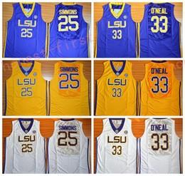 1b6a09dd124 ... Stitched Embroidery Vintage Retro basketball Wholesale LSU Tigers  College Jerseys 2017 Fashion 25 Ben Simmons Jersey Shirt 33 Shaquille ONeal  Uniforms ...