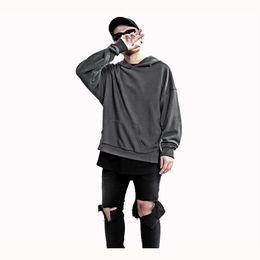 $enCountryForm.capitalKeyWord UK - Kanye West Extended Long Shirt Men Hip Hop Army Green Long Sleeve Hoodies Justin Bieber Clothes Free shipping