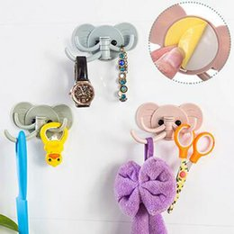 $enCountryForm.capitalKeyWord Canada - 2017 new Creative cute elephant wall stickers hook-free door after the hook with a strong adhesive sticks