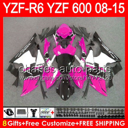 Pink yamaha r6 online shopping - 8gifts For gloss pink YAMAHA YZF R6 YZF600 YZF R6 NO72 YZFR6 pink black Fairing