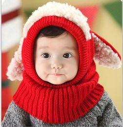 $enCountryForm.capitalKeyWord NZ - Christmas Gift Baby hats Pom knit yarn warm hat girls boys beanie winter toddler kids boy girl warm crochet cap scarf Scarves