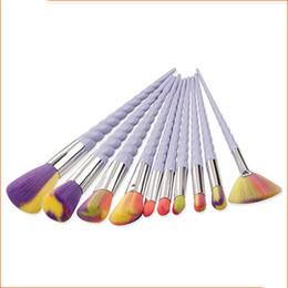 10 Pcs Set Escova De Maquiagem Oval Sobrancelha Delineador Make Up Brushes Maquillaje Barbear Atacado # B001