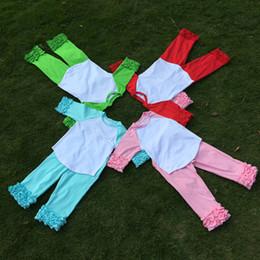 33deb53551d Ruffle Cotton Kids Raglan Tee Wholesale Blanks Four Colors Toddler Raglan  Shirt Great Cousin Suit Birthday Shirt Ruffle Pajamas DOM106412
