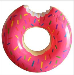 swim toys for kids NZ - Hot Summer Water Toys 36 Inch Gigantic Donut Swimming Float Inflatable Swimming Ring 2 Colors Best Gifts For kids Strawberry Donut floats