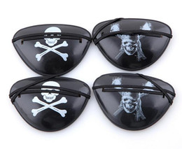 Halloween eye patcHes online shopping - New Christmas Halloween Costume Kids Toy Eye Patch Blindage accessories pirate One eye Pirate Eye Patch Mask with Flexible Rope