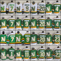 ... Ciccarelli 23 Brian Dallas Stars Mens Throwback CCM Green White Jersey  9 Mike Modano 7 Neal Broten 20 Dino ... 962d5b919