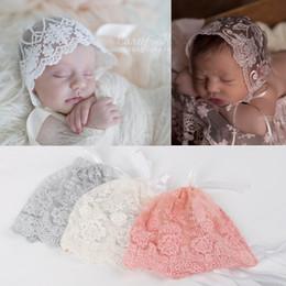 9b691da4245 Baby Lace Caps Newborn Hats Cotton Lace Hollow Cap For 0-3M Infant Hat New  Free DHL 339