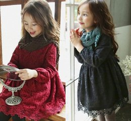 $enCountryForm.capitalKeyWord Canada - Korean girl christmas dresses baby girl autumn winter lace tutu dress kids add wool princess party dress