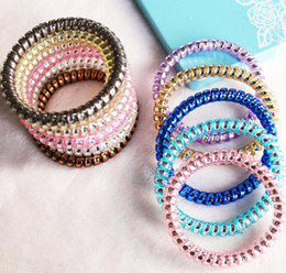 China Hot sale Hot hair trim fashion gold and silver details of the phone line hair circle FQ057 mix order 100 pieces a lot supplier sale plastic hair bands suppliers