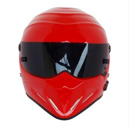 $enCountryForm.capitalKeyWord NZ - Top quality Full face Fiberglass SIMPSON Motorcycle Helmets The STIG Helmet Motorbike Kart Casco Capacete DOT approved Red