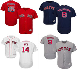 7c0bd2d7f ... Discount ted williams baseball 2017 Boston Red Sox baseball jersey 8  Carl Yastrzemski 9 ted williams ...