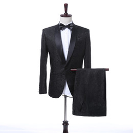 $enCountryForm.capitalKeyWord UK - (Blazer+Pants) 2017 New Fashion Shawl Lapel Men's Suit Black Patterns Luxury Men's Party Tuxedos Vintage Groomsmen Wedding Suit