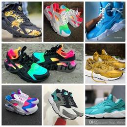 8e4cbf05a607 2018 Huarache Sneakers Mujeres y Hombres Huaraches Colorful White Huarache  Blue Running Shoes Zapatillas Air Huarache Rainbow Shoes Talla 36-45