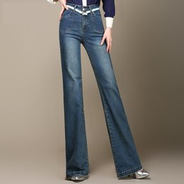 0af6a02a3a447 Discount women straight leg jeans - Wholesale- Free Shipping New Women Wide  Leg Jeans Ladys