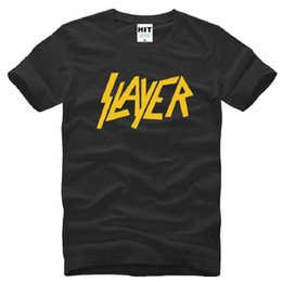 New Summer Style Slayer T-Shirt da uomo in cotone manica corta Metal Rock T-Shirt da uomo Fashion Speed ​​metal band Maschio Hip Hop Top Tee