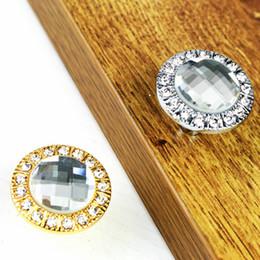 Crystal Pull Cabinet Handles Australia - high quality diamond crystal furniture knobs gold silver drawer cabinet dresser furmiture door handles pulls knobs