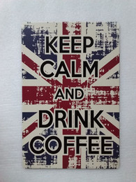 $enCountryForm.capitalKeyWord UK - Keep Calm and Drink Coffee Vintage Rustic Home Decor Bar Pub Hotel Restaurant Coffee Shop home Decorative Metal Retro Tin Sign