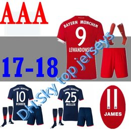 $enCountryForm.capitalKeyWord Canada - 2017 2018 soccer jersey with socks 17 18 adult VIDAL COATA LEWANDOWSKI MULLER ROBBEN home football uniforms ALABA LAHM adult shirt