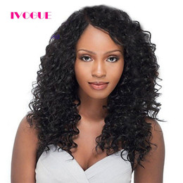 french curl wigs UK - Full Lace Human Hair Wigs Kinky Curly Virgin Brazilian Human Hair Lace Front Wig Curls For Black Women Grade 8A