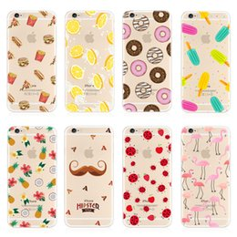 S6 pattern caSe online shopping - For Apple iphone plus S Back Cover Transparent Soft TPU clear patterns Cartoon cases for samsung S7 S8 edge S6