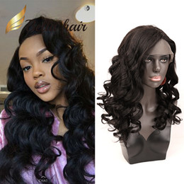 Long brown wavy hair online shopping - Beautiful Wavy Hair Wig Loose Body Wave Human Hair Lace Front Wig Natural Black Color Wavy Human Hair Lace Wigs Julienchina BellaHair