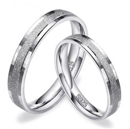 $enCountryForm.capitalKeyWord Canada - New! Real 925 Sterling Silver Couple Ring Sets for Women and Men Matte Silver Wedding Engagement Jewelry N60