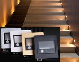 Motion detector infrared online shopping - PIR motion Detector Light sensor lead decoration light stair led infrared human body induction steps light lead wall lamp with box
