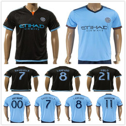 David S Pas Cher-Maillot de football de New York City DAVID VILLA LAMPARD MIX PIRLO MCNAMARA HARRISON Blank Personnaliser n'importe quel numéro de nom de Football Shirt Kit Uniform