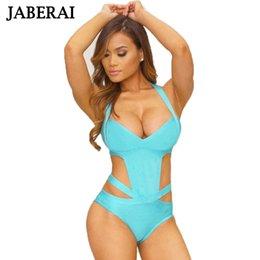 $enCountryForm.capitalKeyWord Australia - JABERAI 2017 Sexy One Piece Swimsuit Plus Size Swimwear Women Bandage Monokini Swimsuit Bathing Suit Summer Swim Wear Black X001
