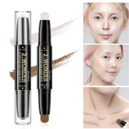 $enCountryForm.capitalKeyWord Canada - Double Use Brighten Highlighter Stick Shimmer Highlighting Creamy Texture Waterproof glow kit bronzer makeup concealer supply