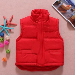 Spring Waistcoat Canada - Retail children's winter Outerwear Coats baby boys vest kids Letter waistcoat fashion children coat 3 colors you can choose