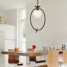 American Country Birds Hanging Lamps Simple Iron Restaurant Aisle Lights Lounges Shop Creative Bar Counters Cheap Modern Country Kitchen Lighting