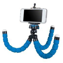 Octopus Flexible Tripod Canada - Flexible Tripod Holder For Cell Phone Car Camera Gopro Universal Mini Octopus Sponge Stand Bracket Selfie Monopod Mount With Clip