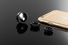 Wholesale Universal Clips X Zoom Camera Telephoto Lenses in Wide Angle Fish Eye Macro Lens For iPhone s Xiaomi redmi