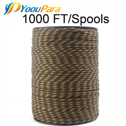$enCountryForm.capitalKeyWord UK - YoouPara Paracord 4mm 1000FT Spools 7 strands rope Parachute cord Outdoor Climbing tactical Survival Paracord 550 252 Colors