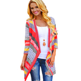 Chinese  Wholesale-Boho Womens Long Sleeve Cardigan Loose Sweater Outwear Knitted Jacket Coat Tops for Spring & Auntum Free shipping W003 manufacturers