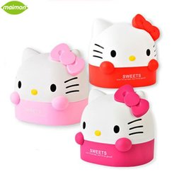 roll storage box Canada - Wholesale- Lovely Hello Kitty Plastic Table Decorative Roll Paper Storage Boxes Cat Bathroom Tissue Box Container Toilet Paper Holder