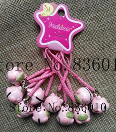 $enCountryForm.capitalKeyWord NZ - Wholesale Lot Cartoon Pink pig Charms Bell Pendant With Strap Cellphone Key Chains Toy pendant