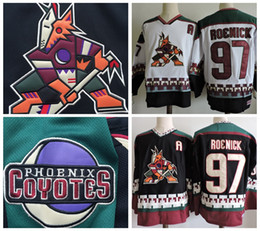 Phoenix Coyotes Vintage Jeremy Roenick Old Hockey Jersey Vintage 97 Jeremy  Roenick Black White CCM Stitched Arizona Coyote Jerseys A Patch 33446e7c7